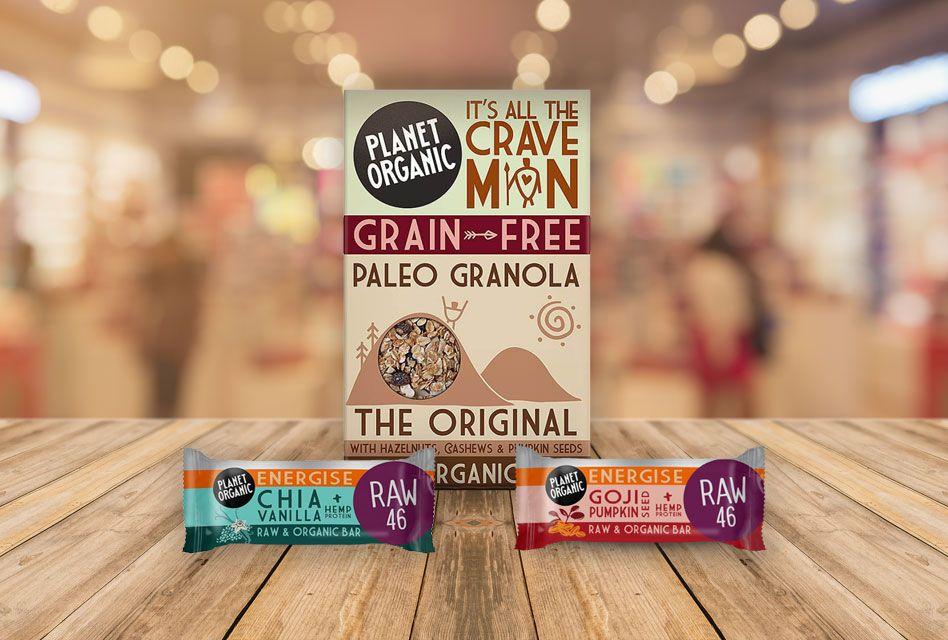 Presne granole in energijske ploščice Planet Organic